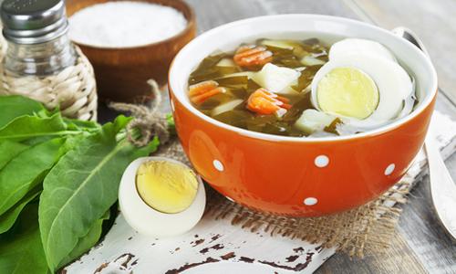 Классический суп из щавеля