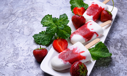 Ягодное мороженое в домашних условиях