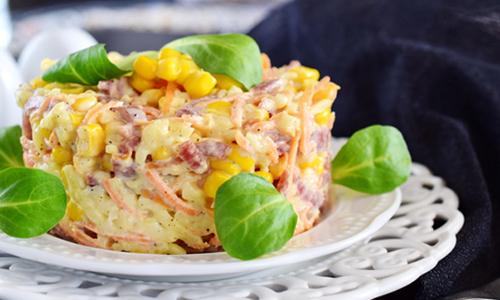 салат с крупными кубиками твердого сыра рецепт фото