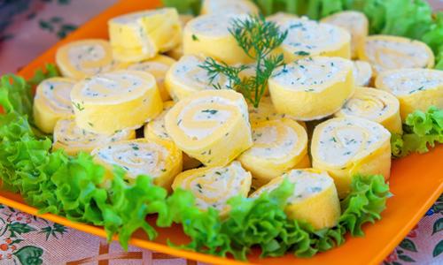 Закуска из яиц с сыром