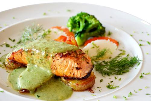Зеленый соус к рыбе