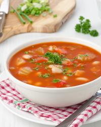 Суп из сельдерея с фасолью