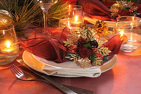 Сервировка стола на Рождество – Фото. Рождественское украшение стола