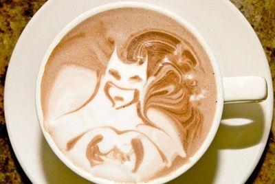 кофе, кофе с бэтменом