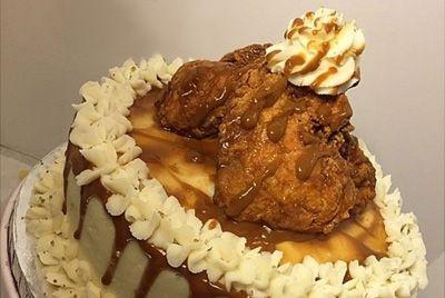 Торт с курицей