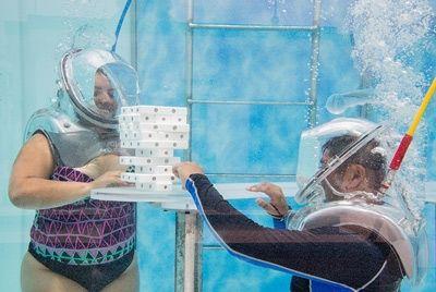 Подводный кислородный бар в Мексике