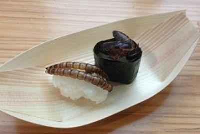 Суши с червями и осами