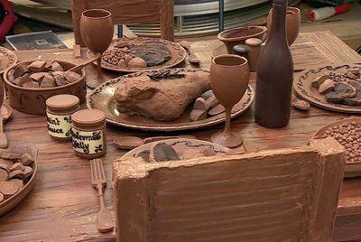 Пасхальный стол из шоколада