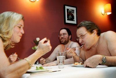 В Лондоне откроется нудистский ресторан