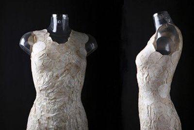 В Голландии изготовили платье из грибницы
