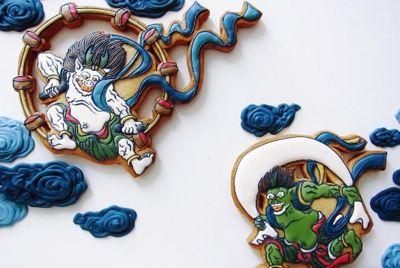 Японский кондитер создаёт картины на пряниках