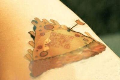 Пиццерия предлагает заказывать пиццу с помощью татуировки