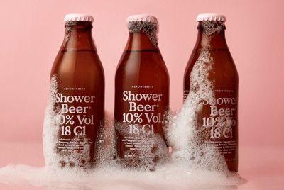 Выпущено пиво, которое можно пить в душе