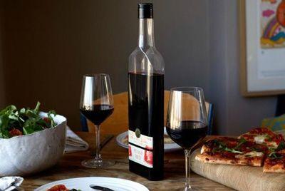 Плоская бутылка для вина