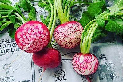 Японский карвинг на фруктах и овощах