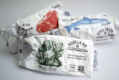 Изобретены пакеты для приготовления продуктов в стиральной машине