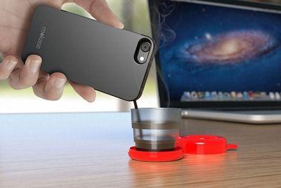 Чехол для смартфона с функцией кофеварки