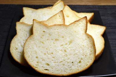 Хлеб в форме кошачьей мордочки