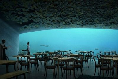 В Норвегии откроется первый в Европе подводный ресторан