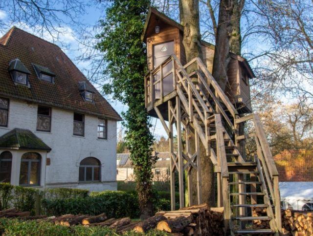 Брюссельский отель предлагает поужинать на дереве