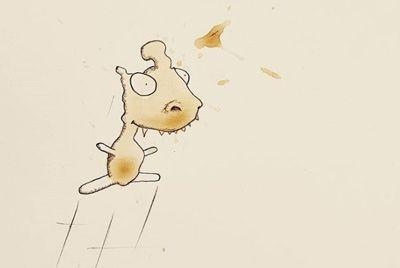 Иллюстратор из Германии создает монстров из кофейных пятен