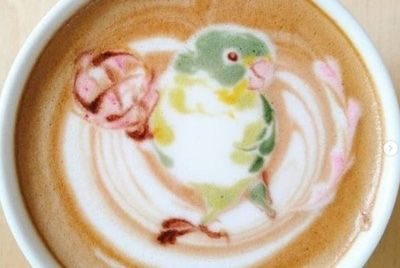 Бариста из Японии рисует птиц на кофейной пене