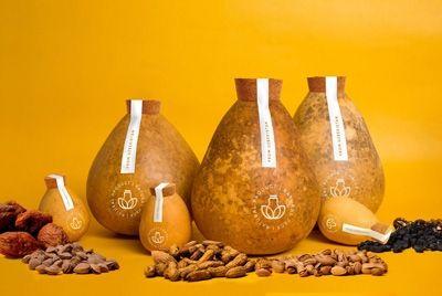 Упаковка из тыквы для натуральных продуктов