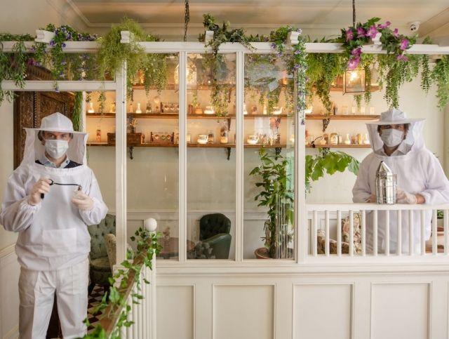 Лондонский бар надел на сотрудников костюмы пчеловодов