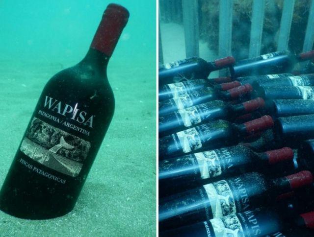 Аргентинская винодельня выдерживает вино под водой