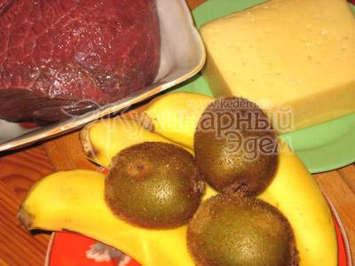 Мясо под фруктово-сырным одеялом – ингредиенты для приготовления