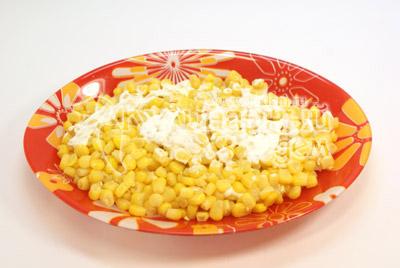 Салат слоеный с рисом – кулинарный рецепт
