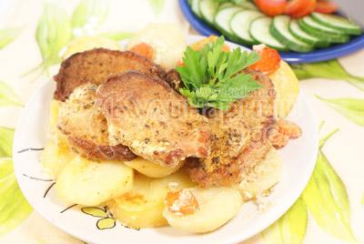 Приготовленные мясные медальоны «Обед для мужа»