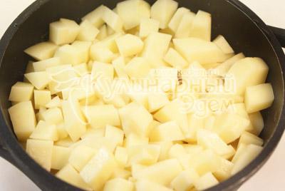 После слой картофеля. - Фото рецепт Галушки для всей семьи