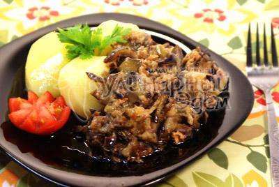 Рагу из кабачков и баклажанов на зиму с уксусом