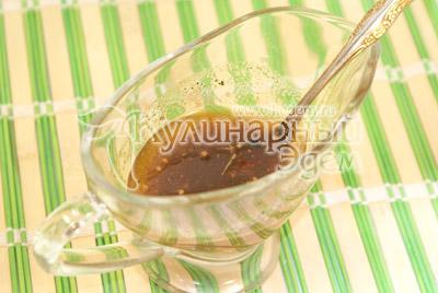 Смешать масло, смесь перцев и соль, хорошо перемешать. - Гусь, запеченный с яблоками. Фото приготовления рецепта.