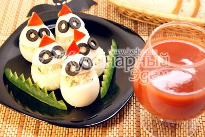 Фаршированные яйца «Привидения»