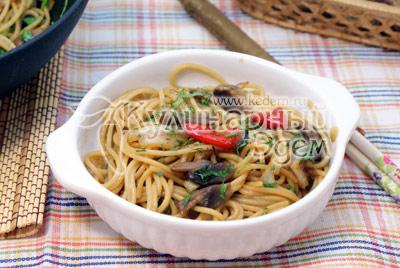 Паста с овощами и соевым соусом, пошаговый рецепт с фото