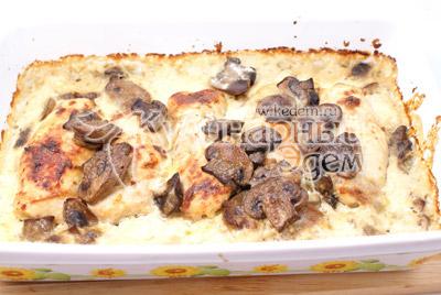Поставить в разогретую духовку до 180-200 градусов С на 20 минут. - Куриные рулетики с грибами и сыром. Фото приготовление рецепта на Новый год.