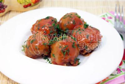 Тефтели из гречки с грибами