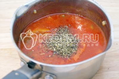Макароны «Перья» с овощной подливой