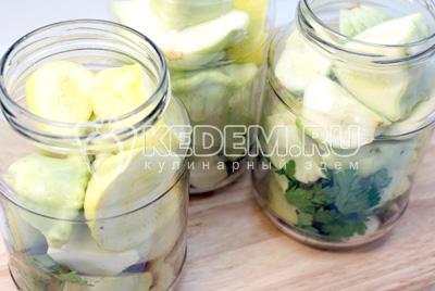 Маринованные патиссоны – кулинарный рецепт