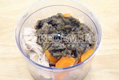 Добавить грибы, соль, перец и измельчить. - Куриный паштет с грибами. Фото рецепт приготовление куриного паштета с грибами на новогодний стол.