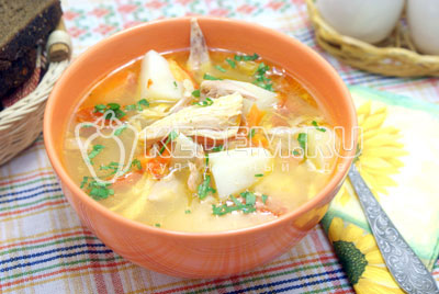 Куриный суп в казане