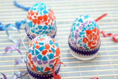 Пасхальные яйца «Мозаика»