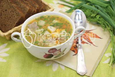 Суп с рёбрышками