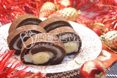 Новогодний шоколадный рулет
