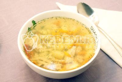 Диетический суп с куриной грудкой