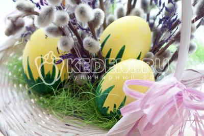 Пасхальные яйца «Травянчики»