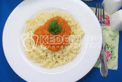 Паста овощная с пряностями – кулинарный рецепт