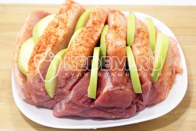 рецепт салата из мяса с яблоками